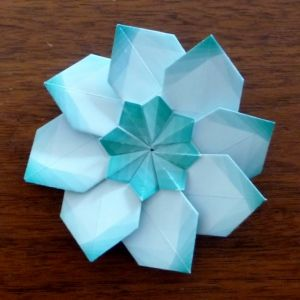 star in star fold flower (there's a tutorial)