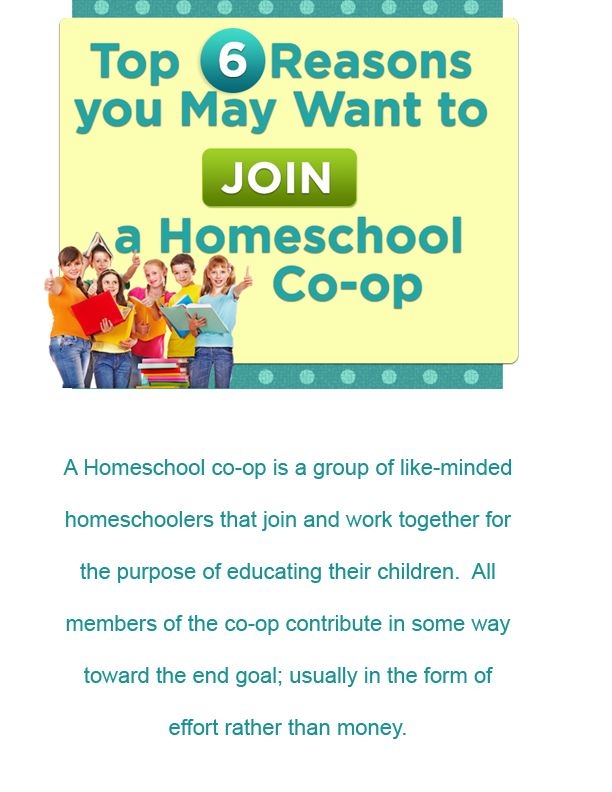 Top 6 Reasons you May Want to Join a Homeschool Co-Op... http://www.homeschool.com/magazine/volume01/GettingStarted/