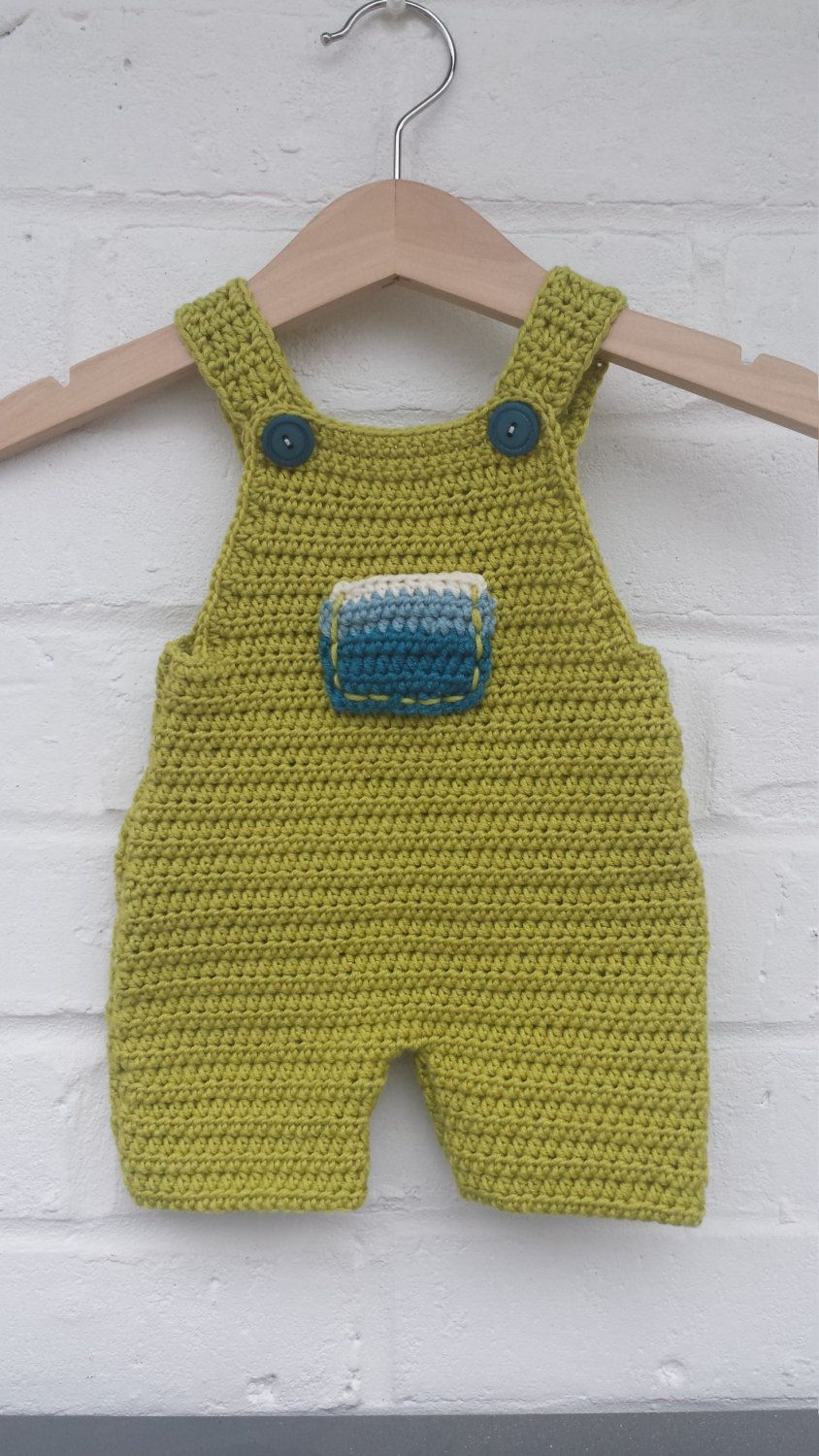 Newborn crochet cashmere dungarees by BennyRensCreations on Etsy ...