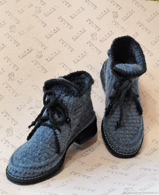 bdba944bbea6 Обувь ручной работы. Ярмарка Мастеров - ручная работа. Купить Вязаные  осенние ботинки