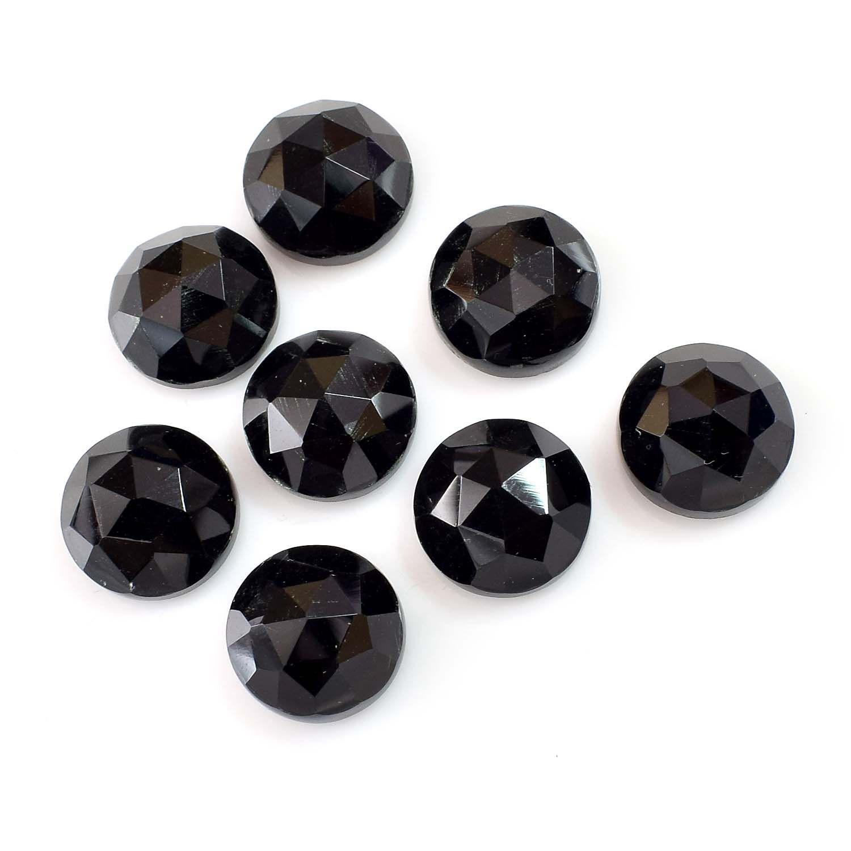 Lot of Stunning 15 Pieces AAA Quality Aqua Chalcedony 10x10 mm Cushion Rose Cut Loose Gemstone Calibrated