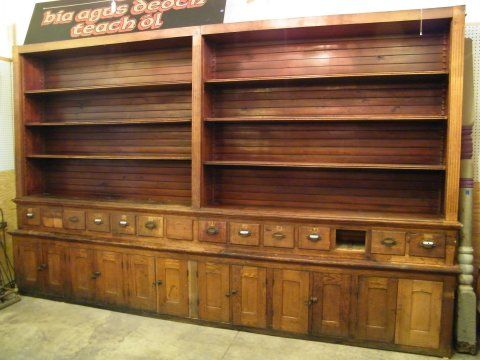 Salvaged Oak Pharmacy Cabinet   Columbus Architectural Salvage