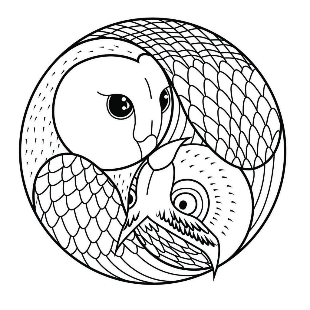 Mandalas For Kids Owl Coloring Pages Mandala Coloring Abstract Coloring Pages