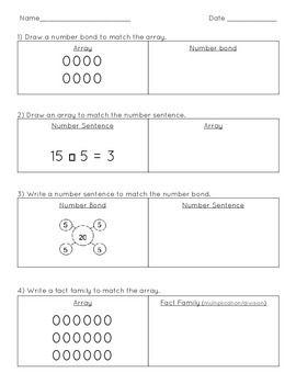 Multiplication Models Worksheet Multiplication Worksheets Multiplication And Division