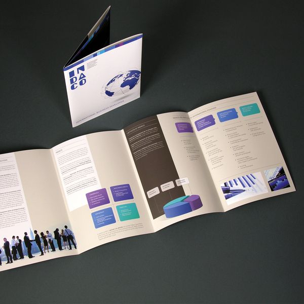 INDACO Company profile brochure by Nicola Sancisi, via Behance - free company profiles template