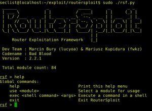 RouterSploit v2 2 1 – Router Exploitation Framework    Geek Stuff in