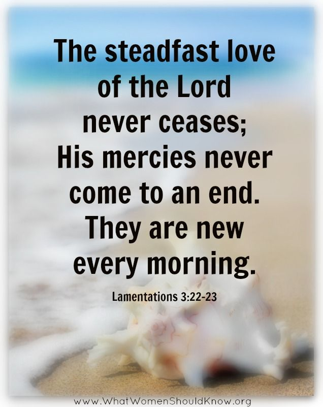 his mercies are new every morning lamentations 3 22 23