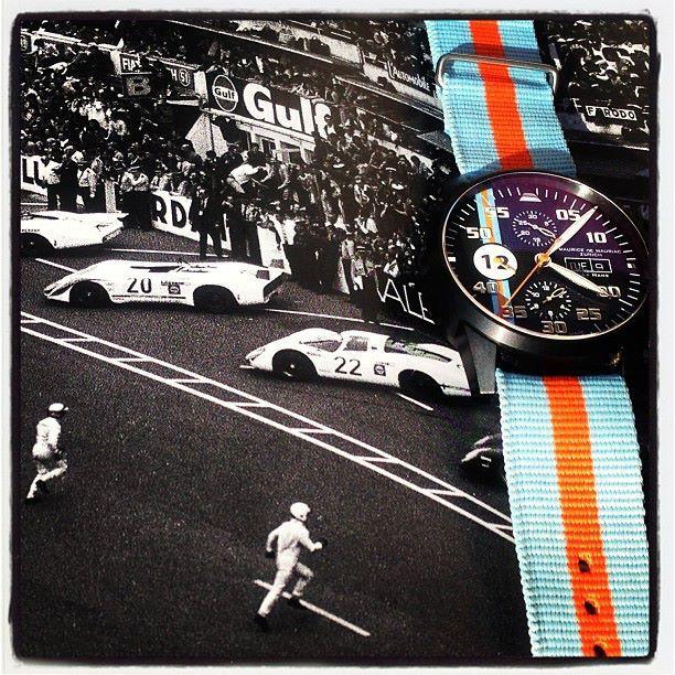 Chronograph Modern PVD  Le Mans on Gulf Team NATO