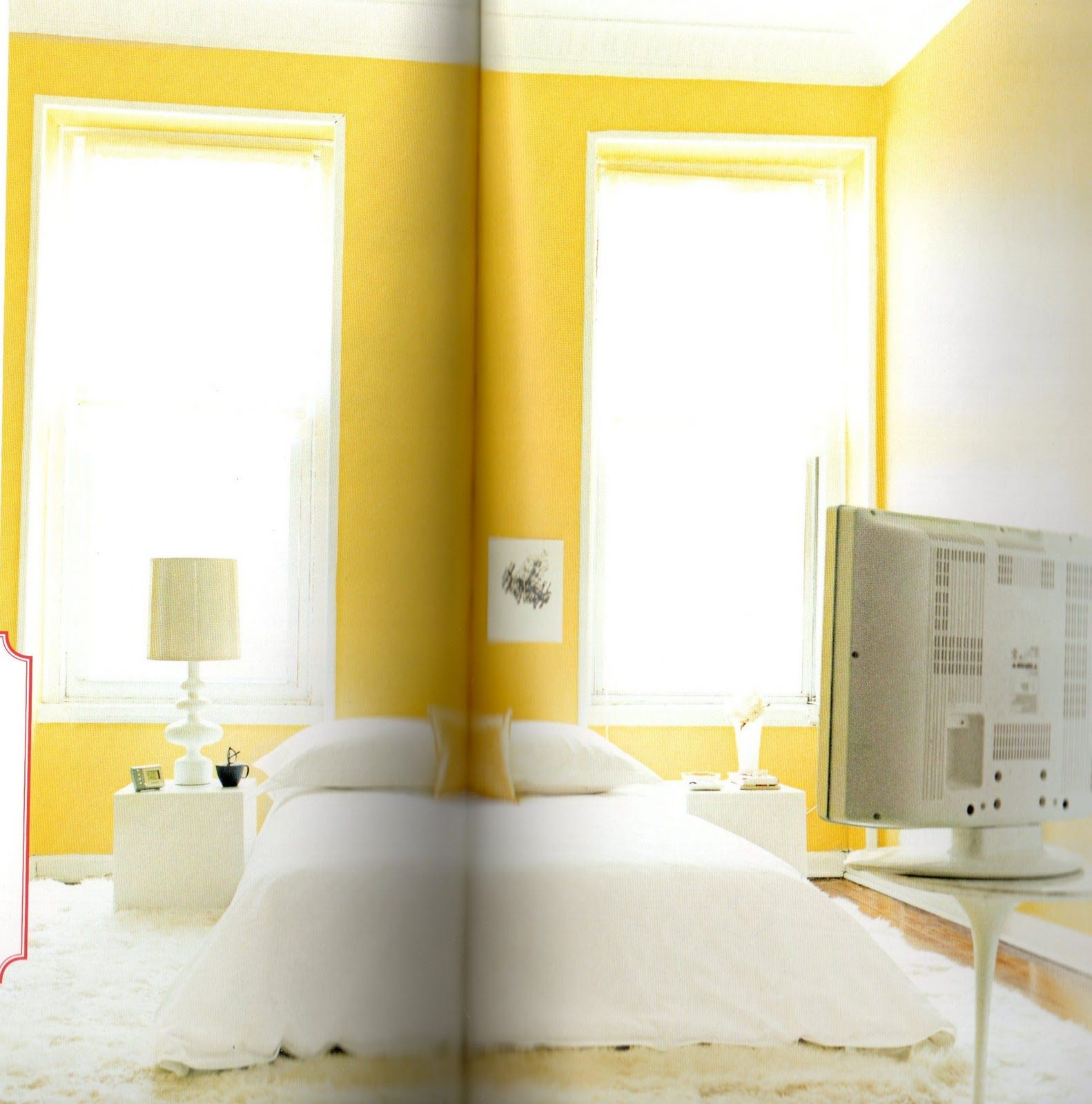Window well decoration ideas  yellow roomnesshuge windows sheer drapery and the white work