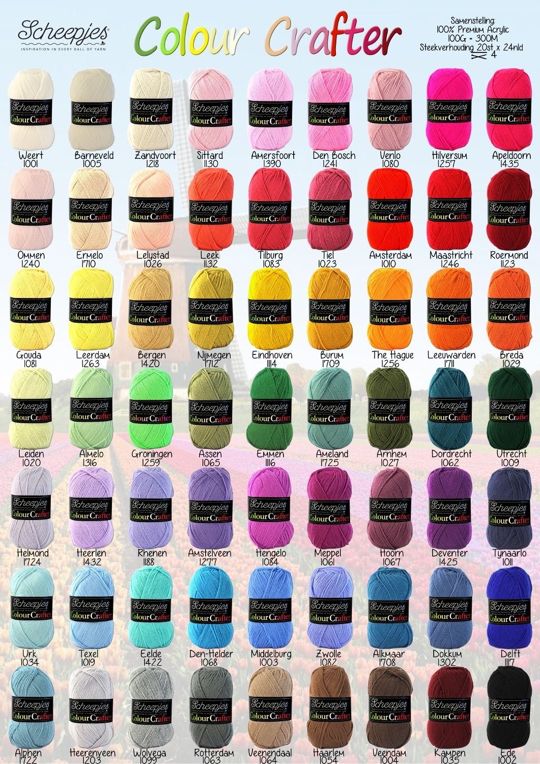 Colour Crafter Yarn Color Combinations Yarn Color