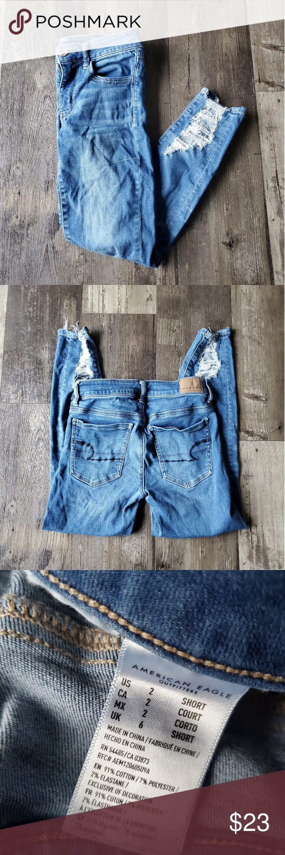 Www Made Com Fr american eagle jeans 2 great condition ae jean's women's