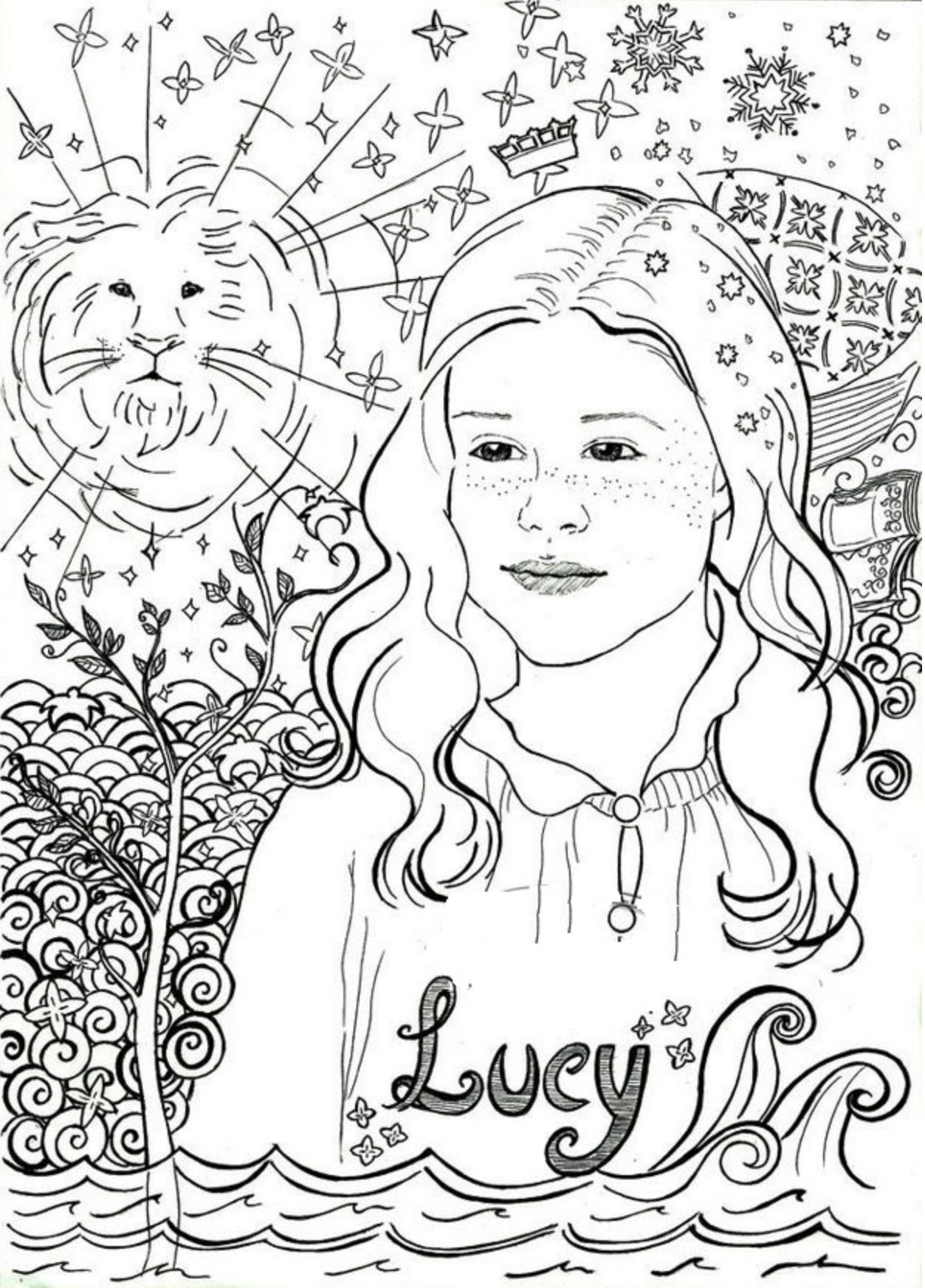 Pin By Cs Parker On Coloring Pages In 2020 Lucy Pevensie Coloring Pages Narnia