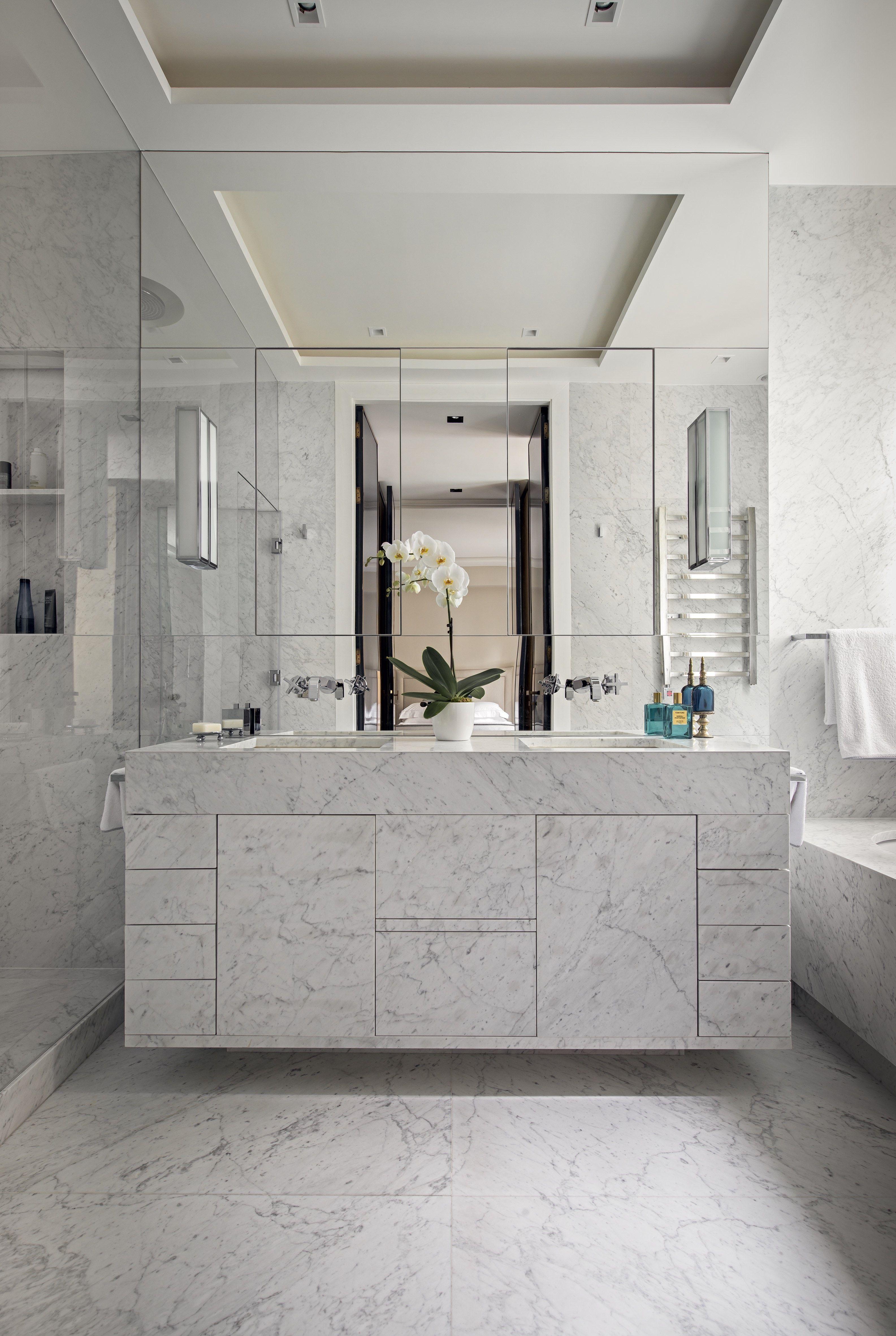 a master bathroom in marble and mirrors design u2022 bathroom in 2018 rh pinterest com
