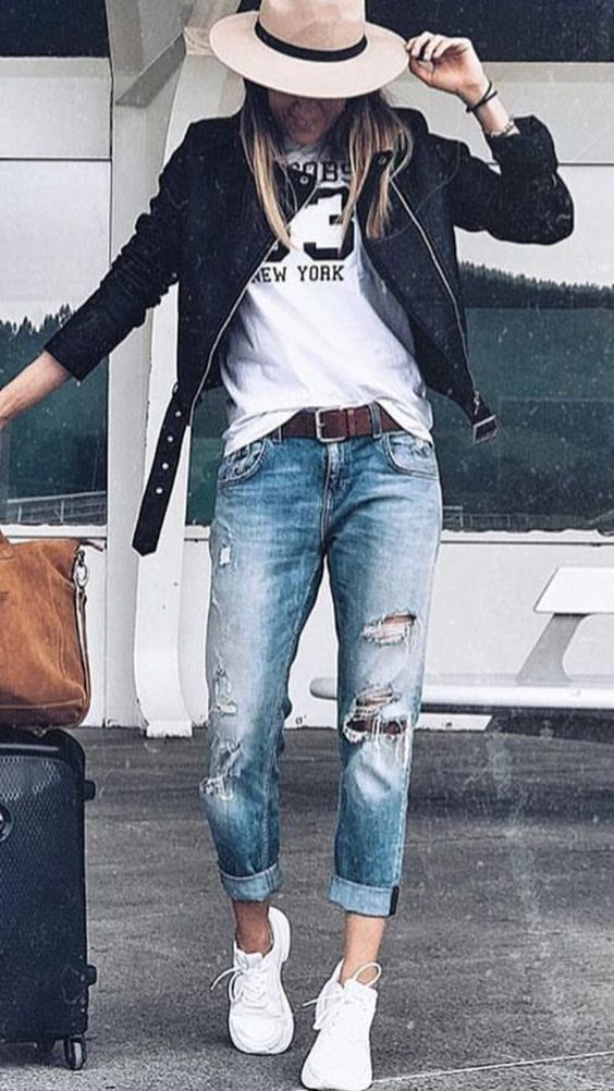 🖤 Comment porter un jean  destroy avec style ! Com