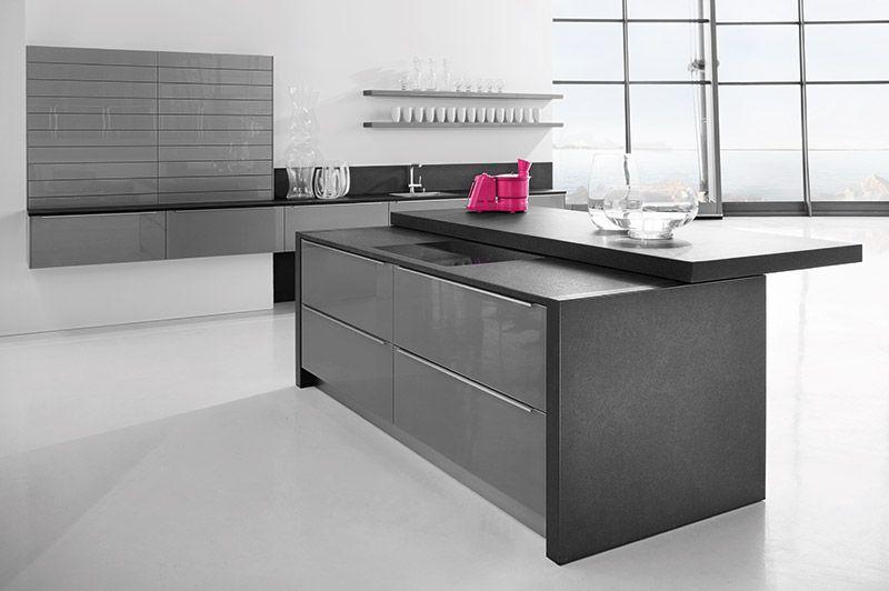 4030 lavagrau - Häcker Küchen Häcker - Systemat keukens - next line küchen