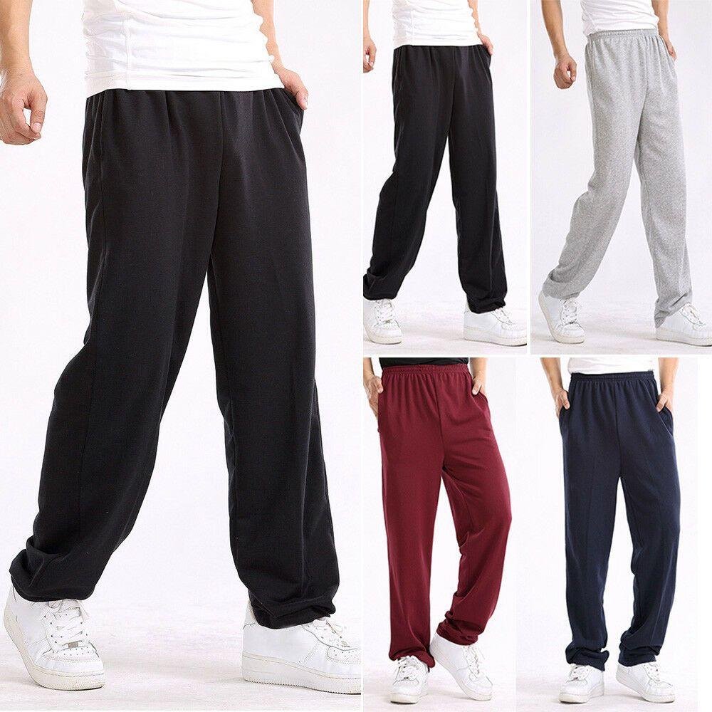 Mens Sweatpants Casual Loose Plus Sport Trousers Straight Pants XL-7XL 5 Colors