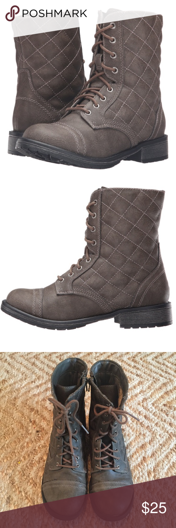 e53591ff75e Steve Madden Moto Boots These are actually kids shoes (big girl 5)