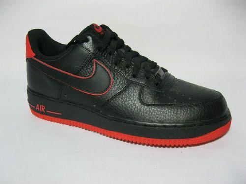 Hombres Hombres Hombres Nike Air Force 1 Negro  Rojo 488298 002 Retro Ds Qs Nike Air c45467