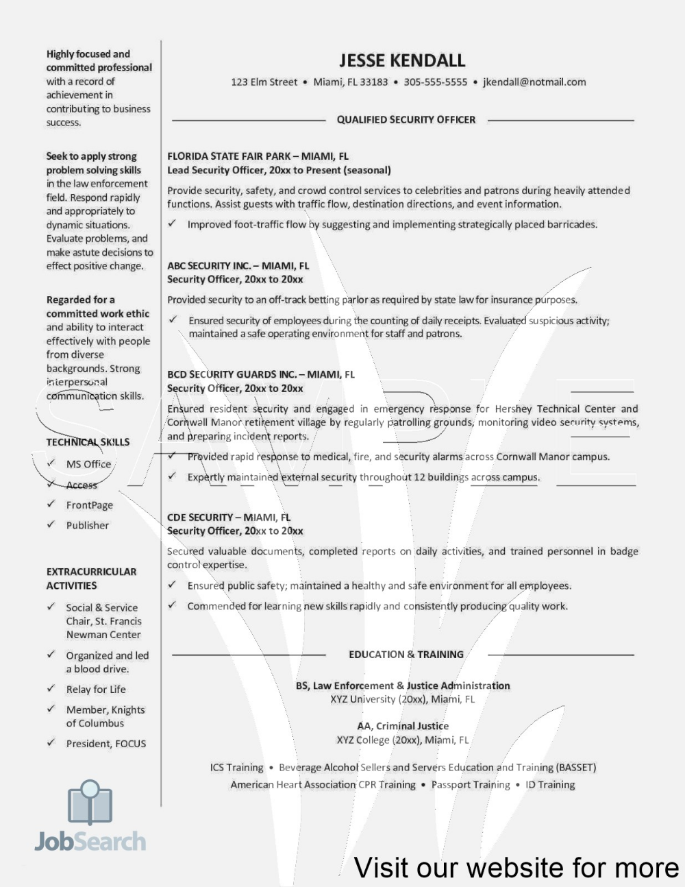 Security Guard Resume Example Free Security Guard Resume Example Security Guard Resume In 2020 Resume Examples Resume Design Professional Resume Objective Examples