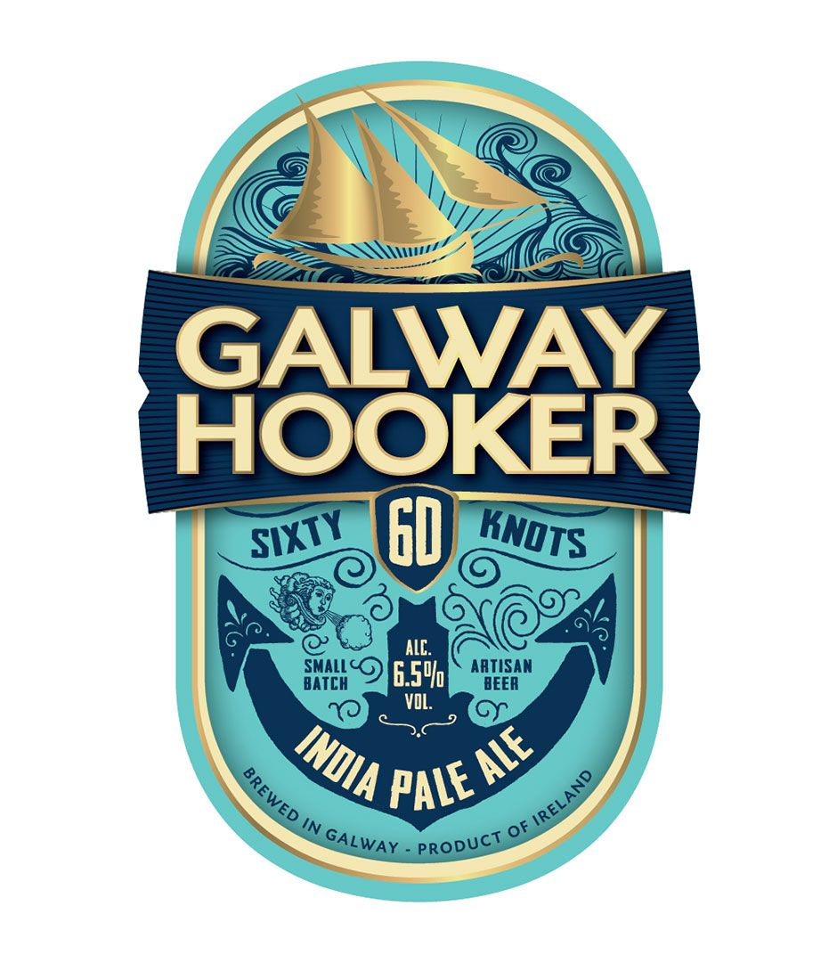 Galway Hooker 60 Knots Ipa Logos Package Design And
