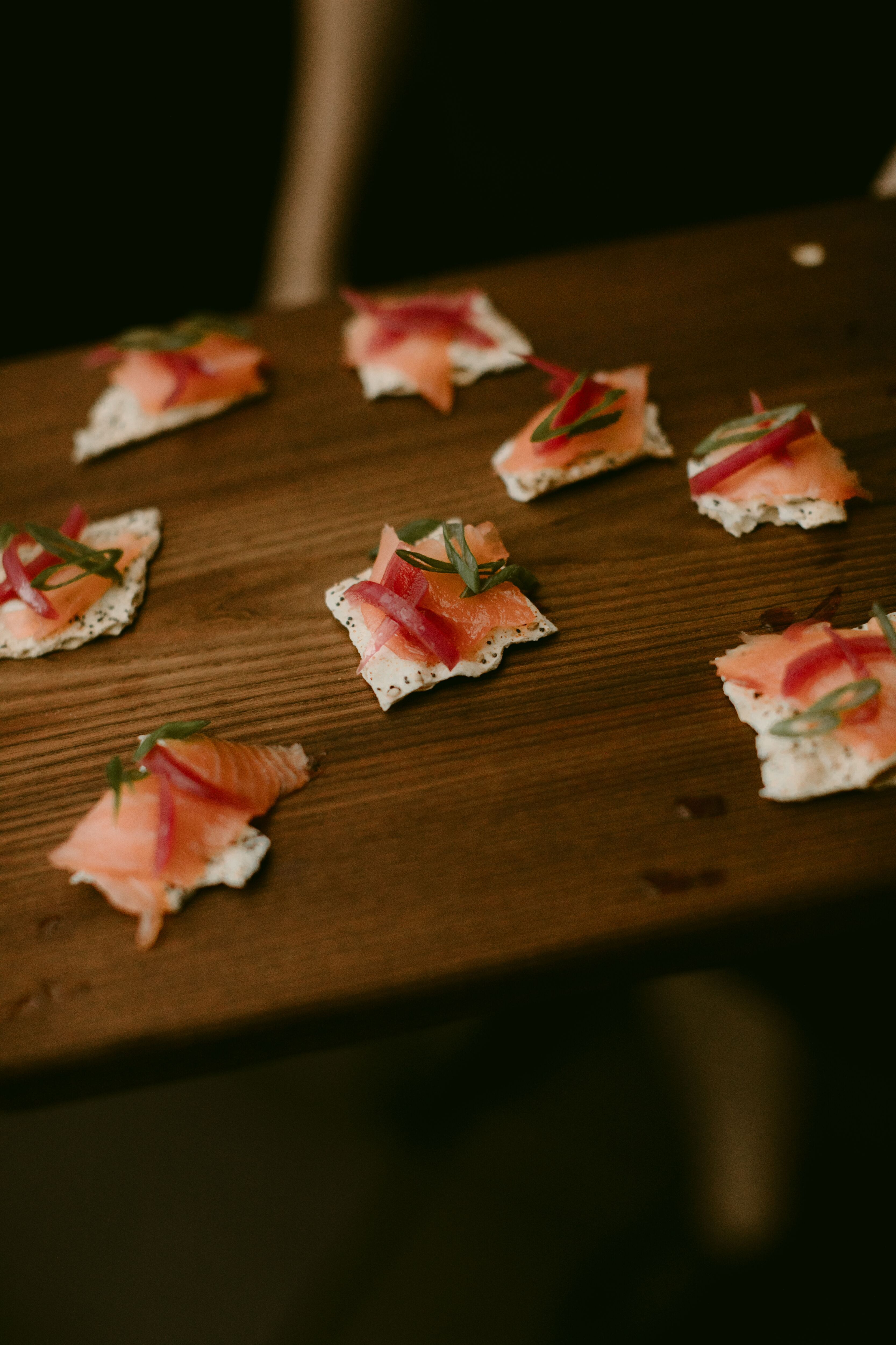 Seafood Hors D'oeuvres At Indoor NYC Wedding At The