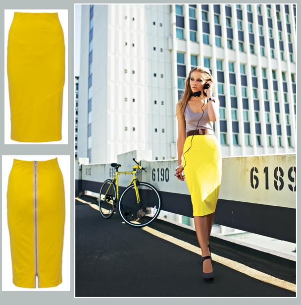 burda style stretch pencil skirt.