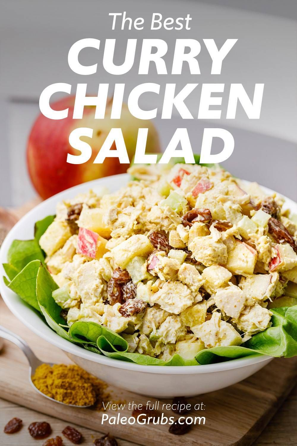 The Best Paleo Curry Chicken Salad Try This Chicken Curry Salad Paleo Curry Paleo Curry Chicken Salad
