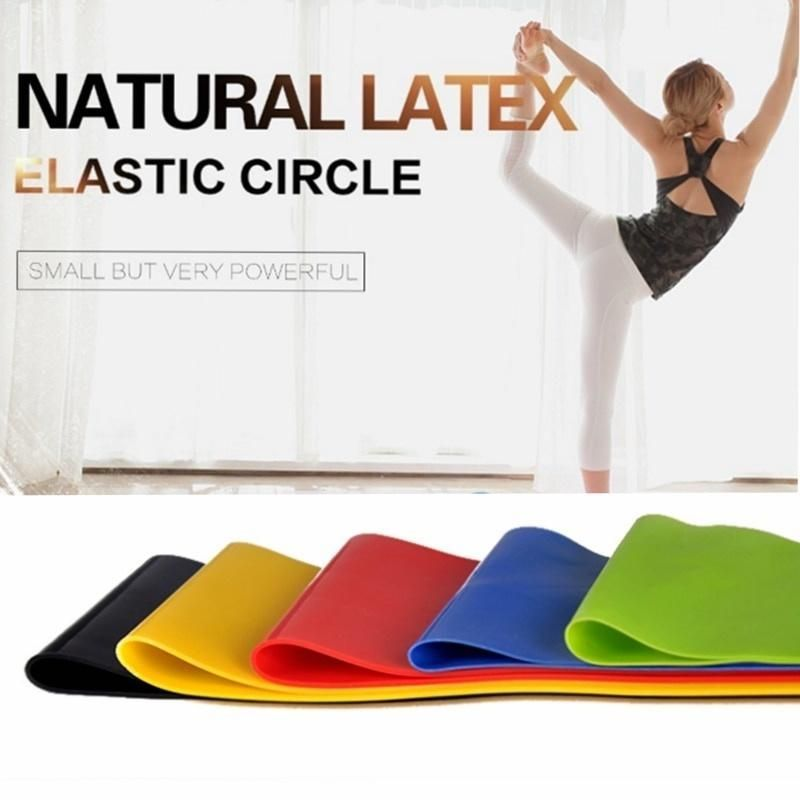 5 Colors Yoga Resistance Rubber Bands Indoor Outdoor Fitness Equipment 0.35mm-1.1mm Pilates Sport Tr...