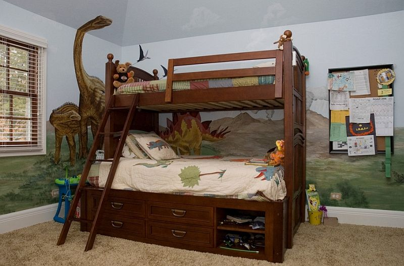 Enliven Your Kids Bedroom With Dinosaur Themed Wall Art And