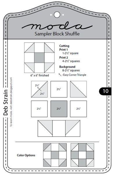 Moda Sampler Block Shuffle - Block 10