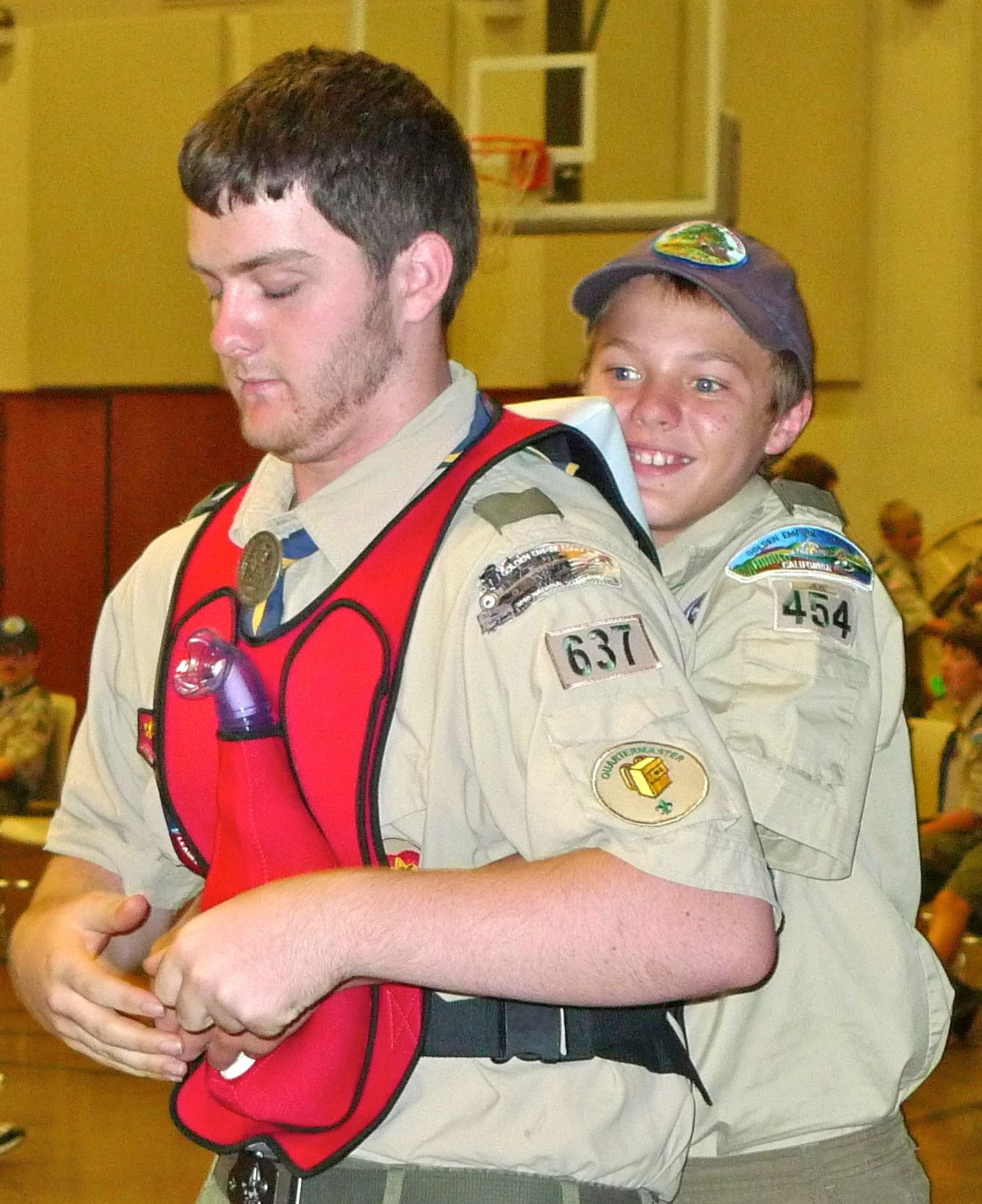 Boy Scouts Practice Their Choking Rescue Skills