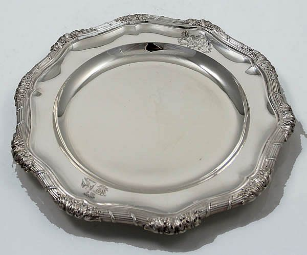 Set of twelve English sterling silver dinner plates & Set of twelve English sterling silver dinner plates | Vintage Silver ...
