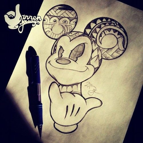 Mickey Mouse Club House Lol Musttry Shaka Pen Art Drawing Pictures