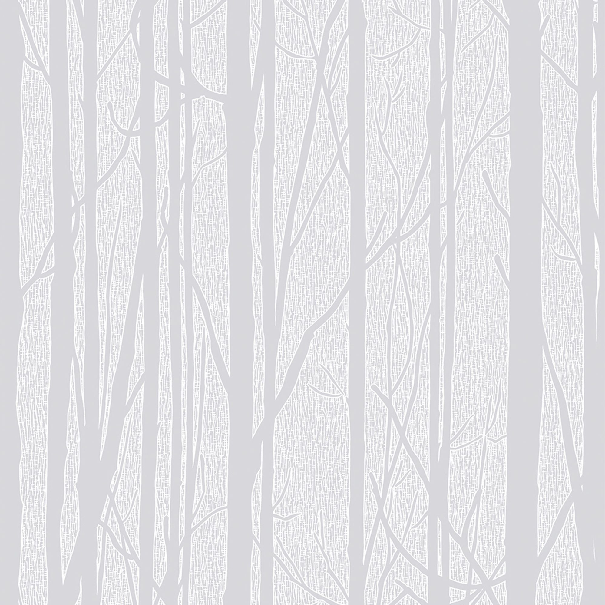 Trees Floral & Nature White Wallpaper Departments DIY