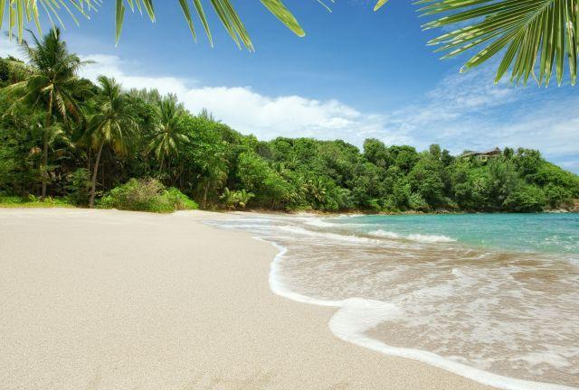 Samet Island Sandy White Beach