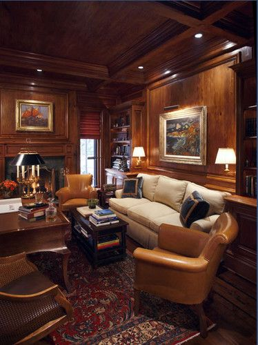california traditional home office