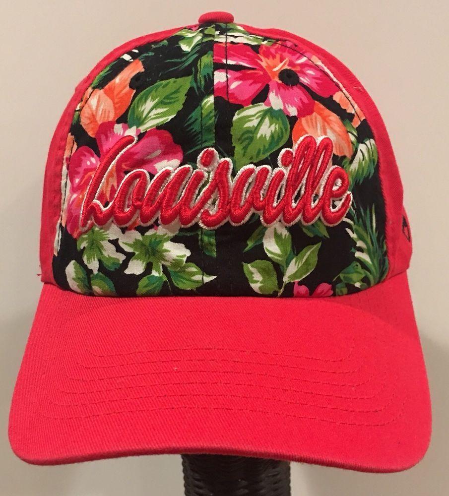 NCAA Top of the World Louisville Cardinals Women s Floral Hawaiian Cap Hat   a17d407c5