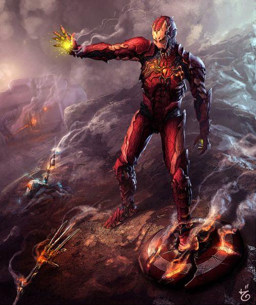 Symbiotic Iron Man by Hasan Basri (deviantART)