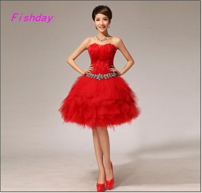 Sexy Red Wedding Dresses Short
