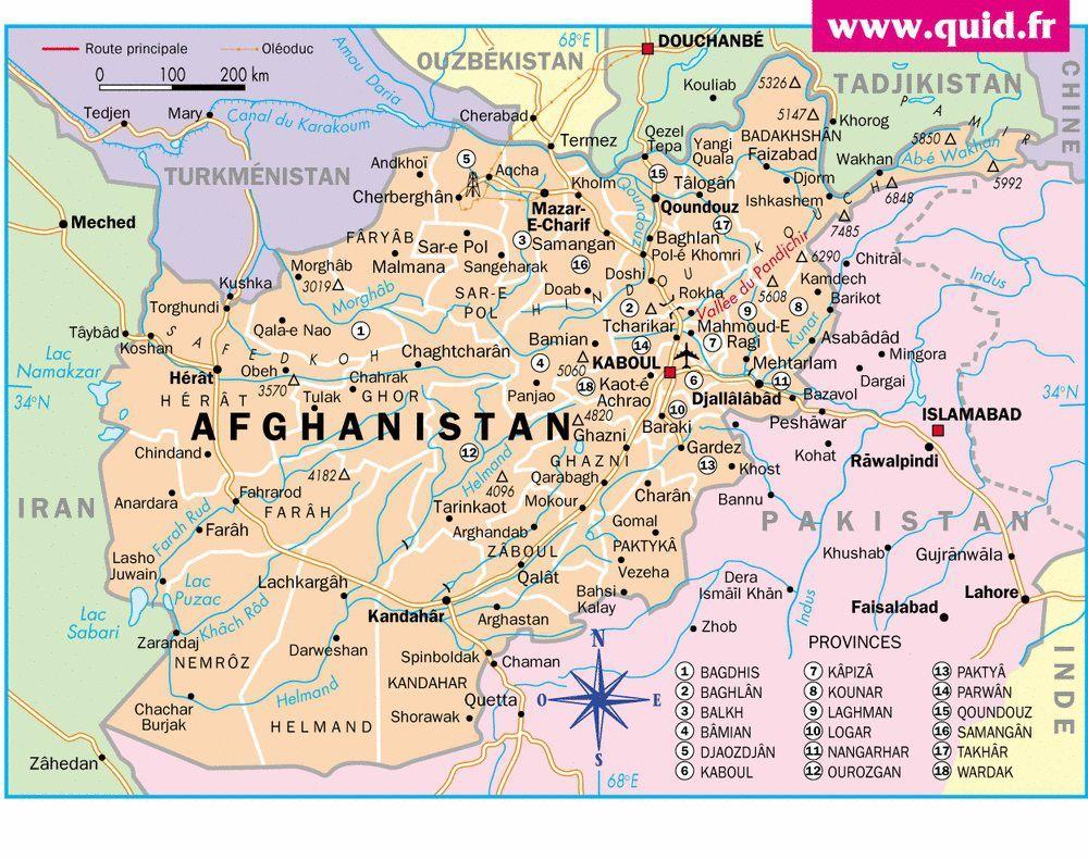 Carte Afghanistan Afghanistan Cart Voyage