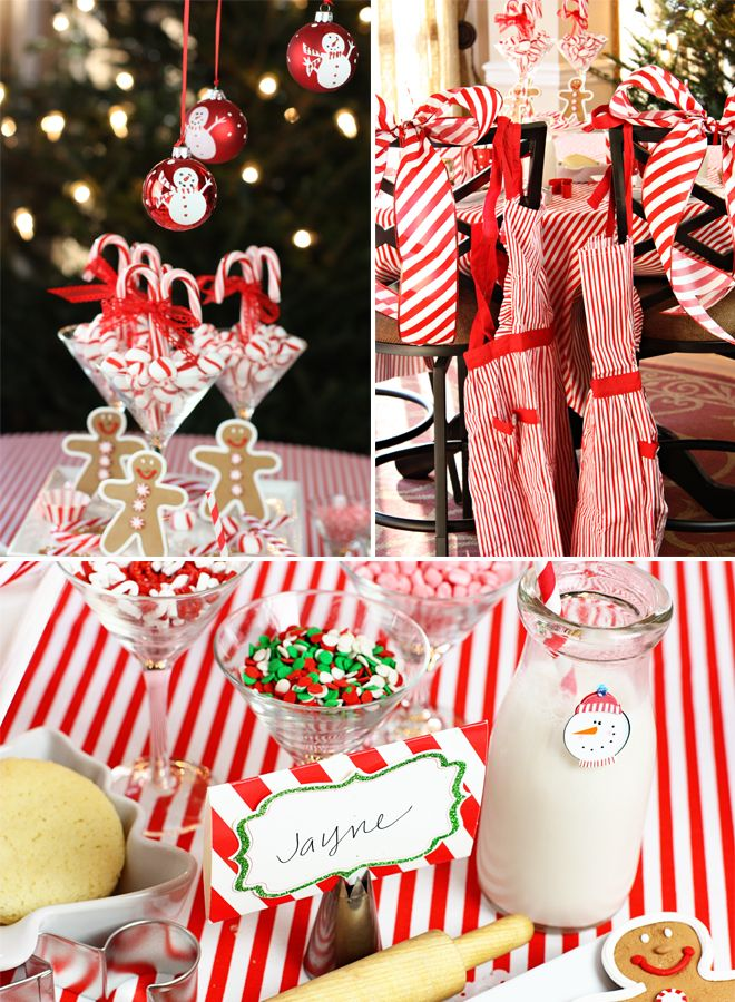 Charming Christmas Baking Party Ideas Part - 7: Christmas Baking Party: Love The Idea Of Large Piping Tips As Label Or  Place Card