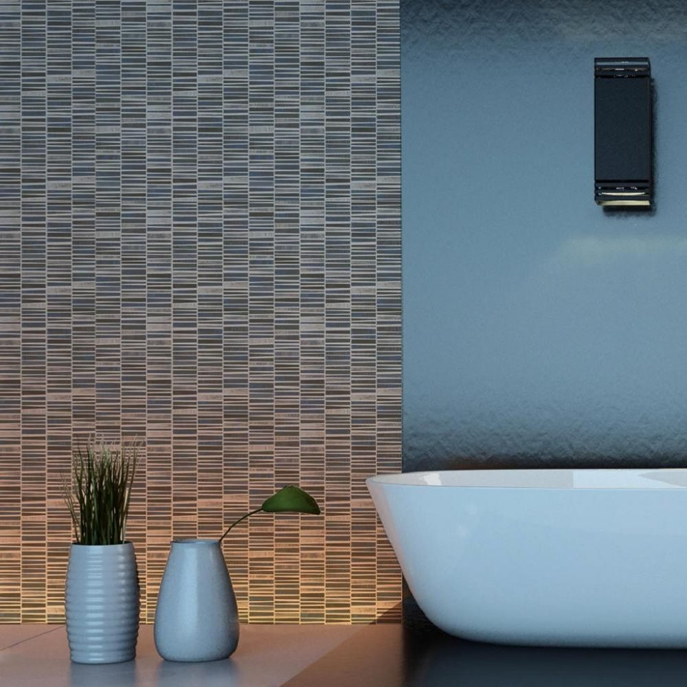 BN Wallcoverings Plaza Mosaic Metallic Lacquered Tile Wallpaper ...