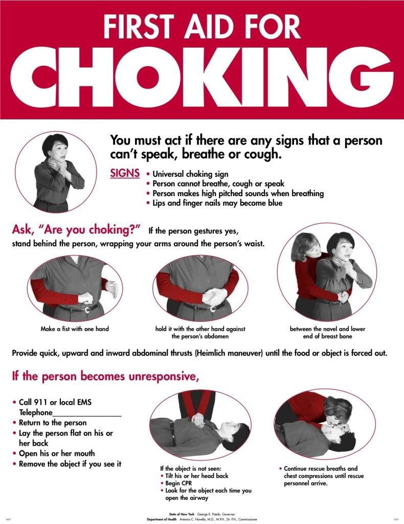 picture about Free Printable Choking Poster named Printable+1st+Help+Choking+Indication Poster Survival initial