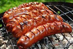 Receita de Salsicha assada em receitas de carnes, veja essa e outras receitas aqui!