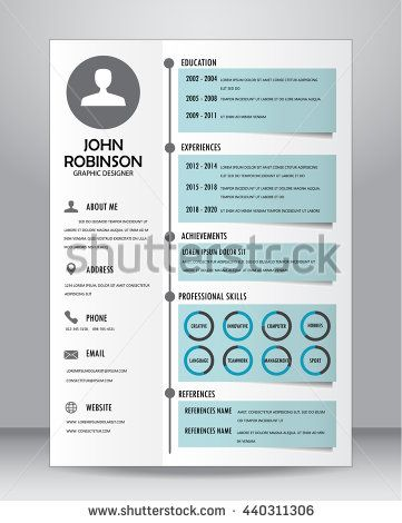 Job Resume Or Cv Template Layout Template In A Size Vector