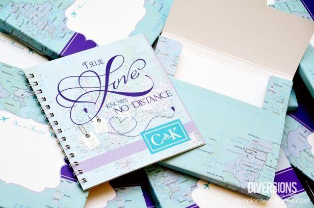 Long Distance Relationship Wedding Invitation: Cryus & Kaysel's Long Distance Themed Wedding Scrapbook