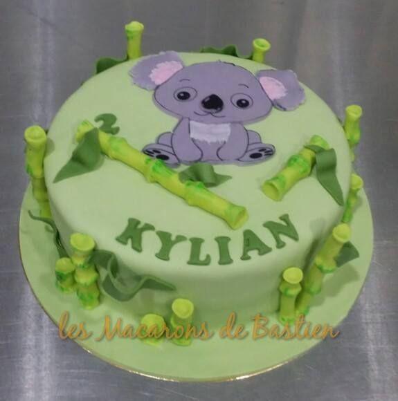 Pour Les 2 Ans De Kylian Un Gateau Anniversaire Koala Pateasucre