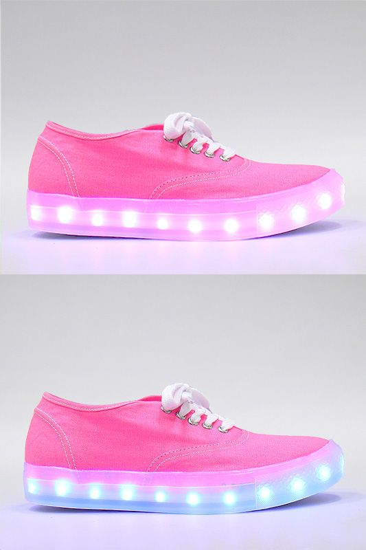 Lace-Up 7 Color LED Light UP Canvas Sneaker