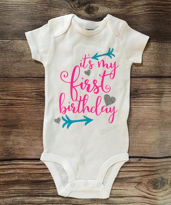 First Birthday Bodysuit Its My Shirt Baby Girl P
