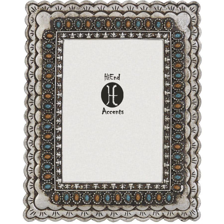 Turquoise and Amber Picture Frame | L i v i n g R o o m. | Pinterest ...